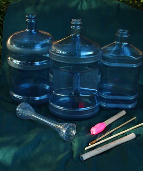 Making Percussion Instruments Water Bottles